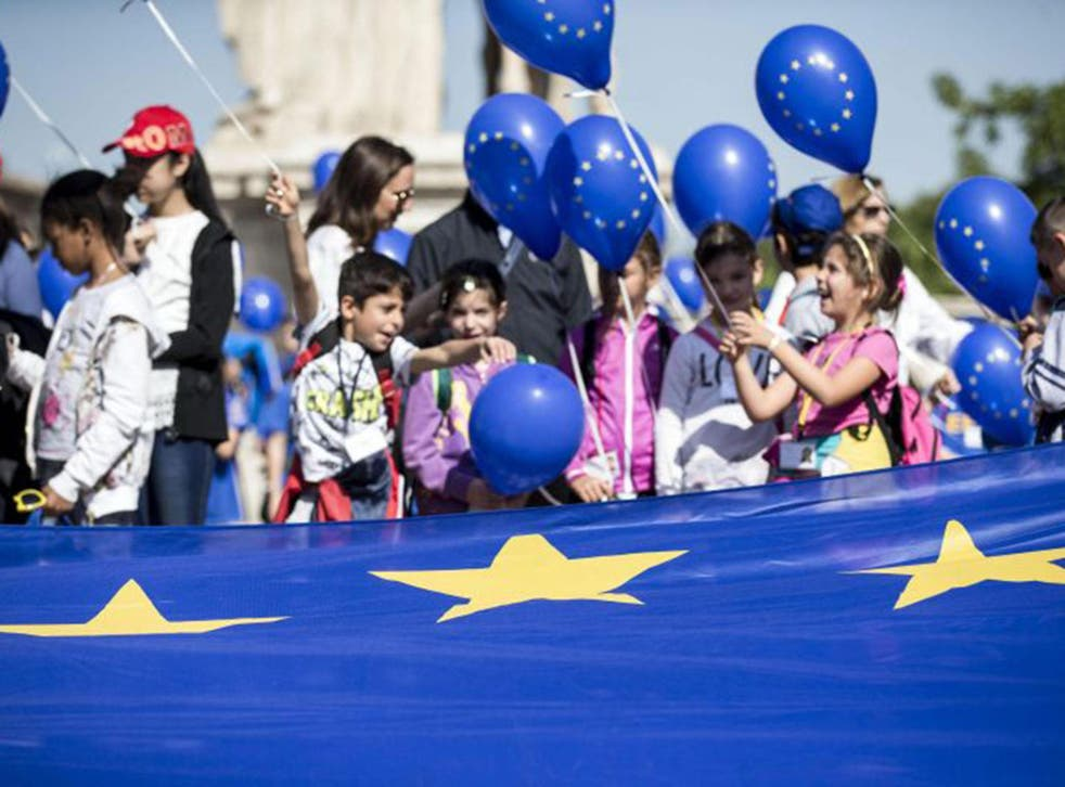 Europeans celebrate 'Europe Day', which marks the anniversary of the 'Schuman declaration' of political cooperation