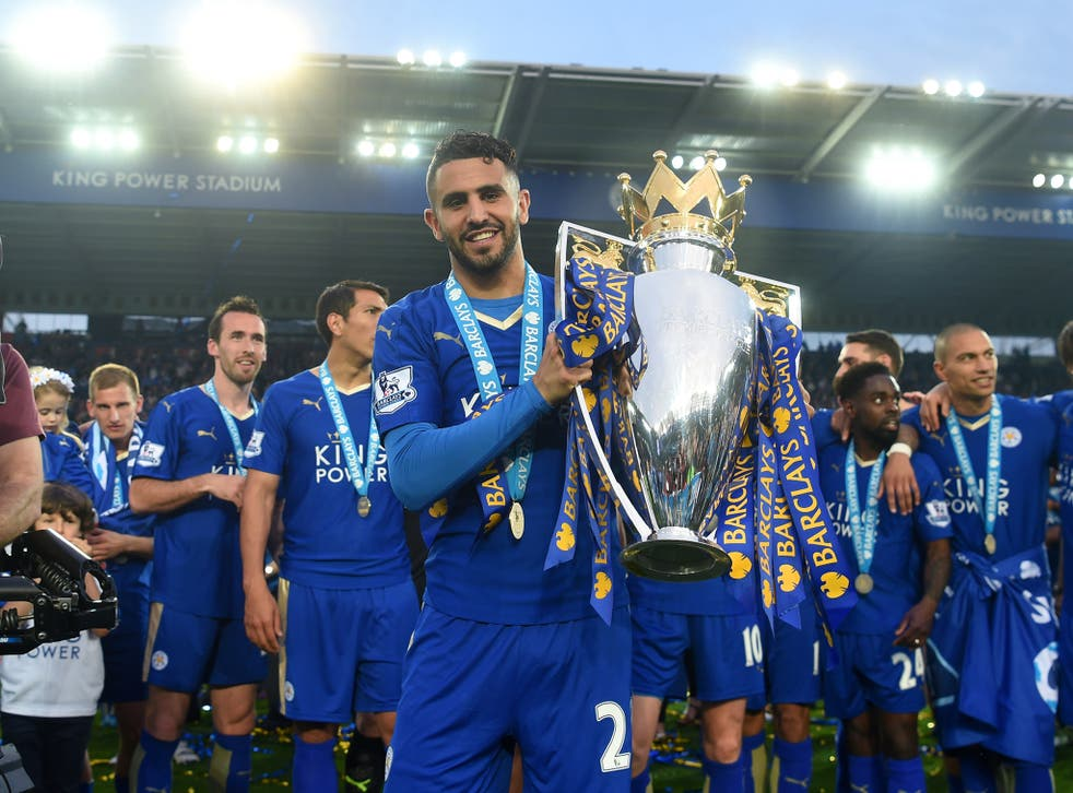 Riyad Mahrez has scored 17 goals during Leicester's run to the Premier League title