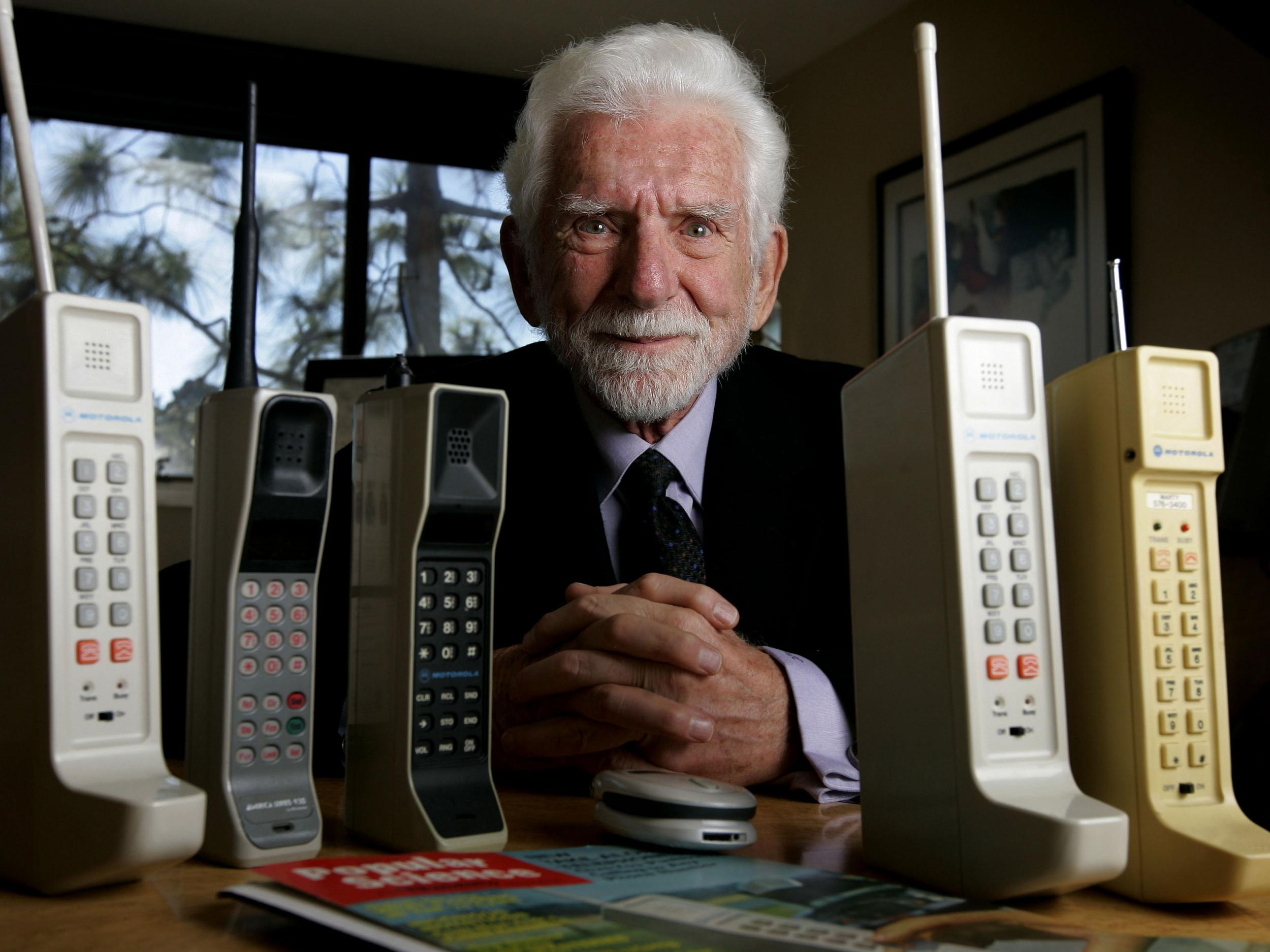 View Of The First Cell Phone Models Invented By Marty Cooper At His Office In Del