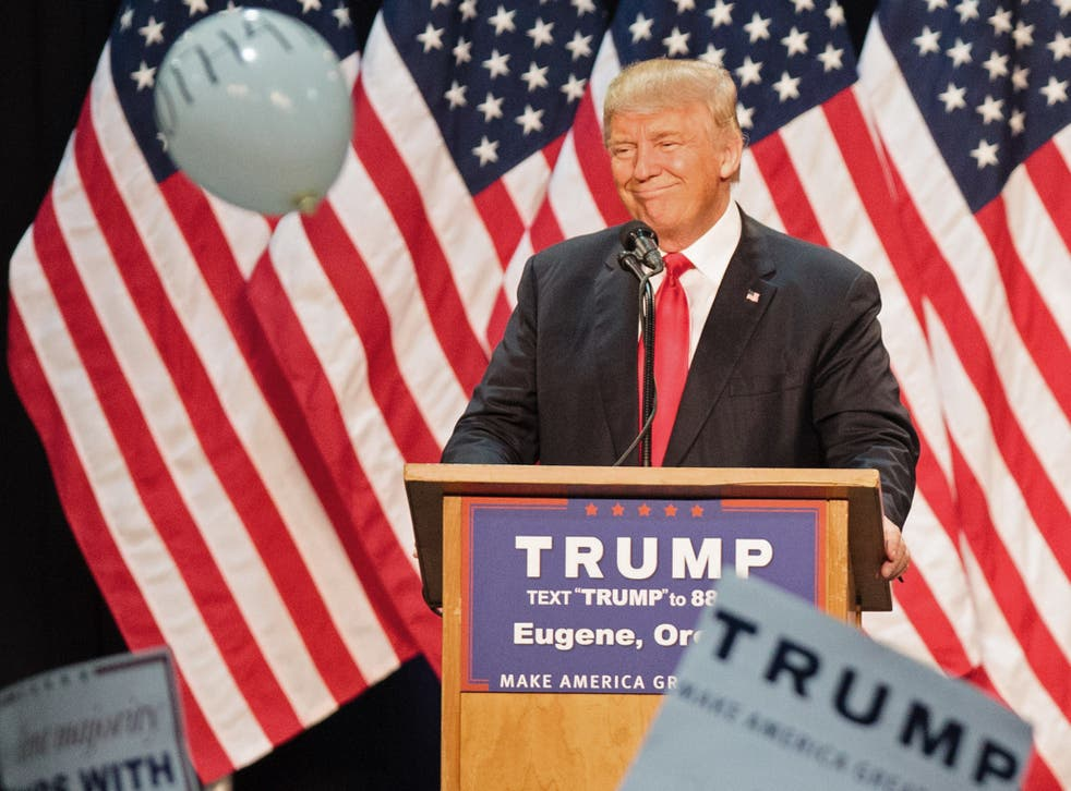 Mr Trump is taking less of a hard line as he looks to detract support from Hillary Clinton