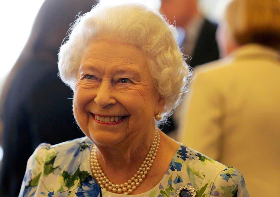 Queen Elizabeth II during a reception in