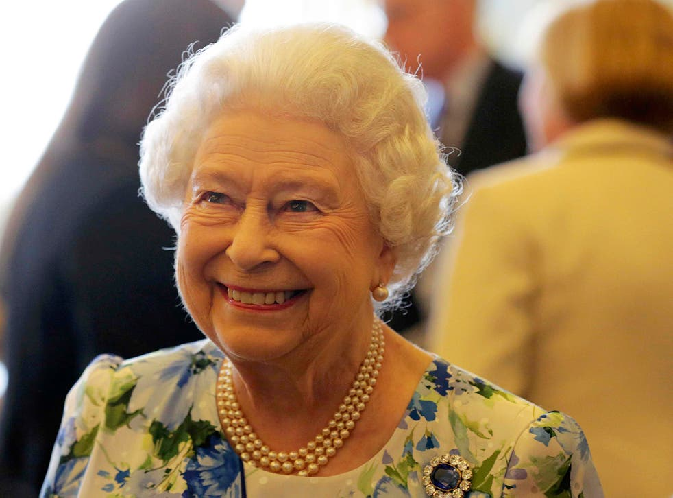 Queen Elizabeth II during a reception in Buckingham Palace, London, to mark her 90th birthday