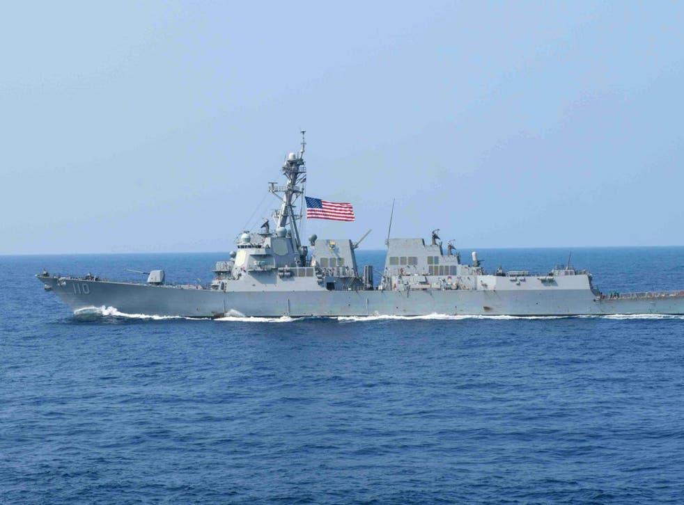 A US Navy warship