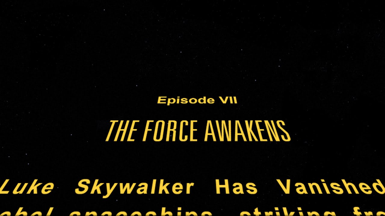 Star Wars: The Force Awakens changed opening crawl's font, angering
