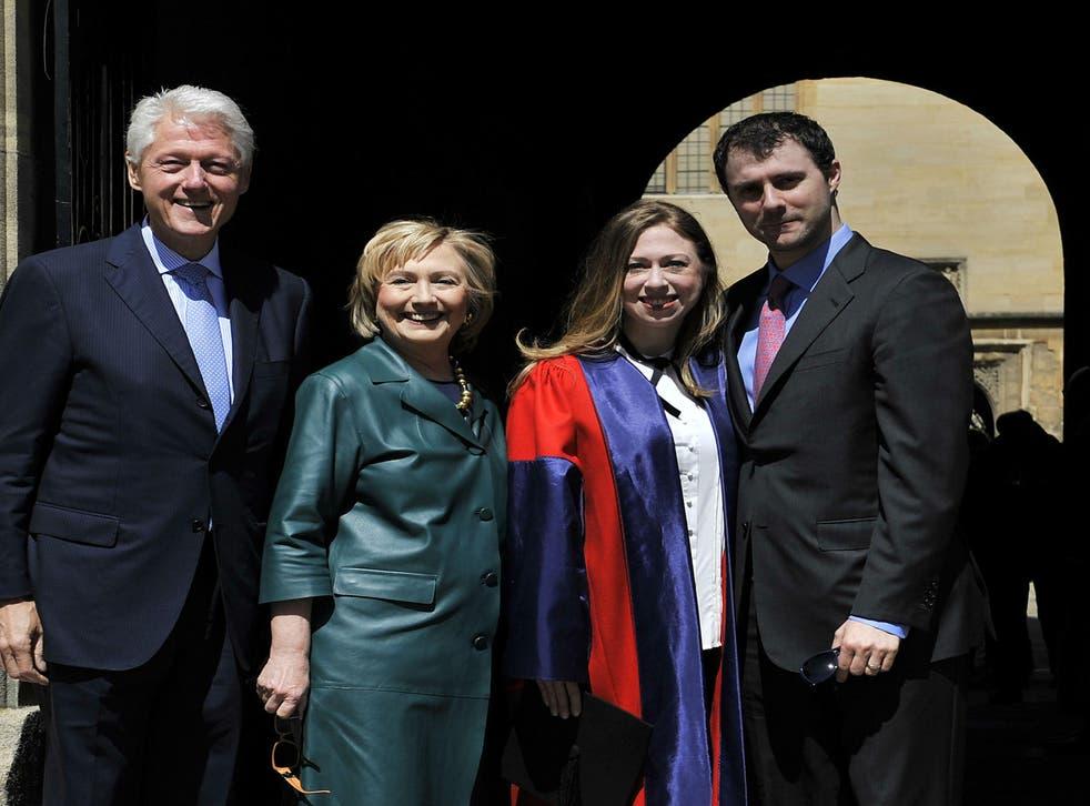 Marc Mezvinsky, far right, in 2014, part of the Clinton family