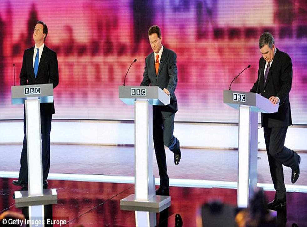 My all-time favourite photo of the 2010 leaders' debates