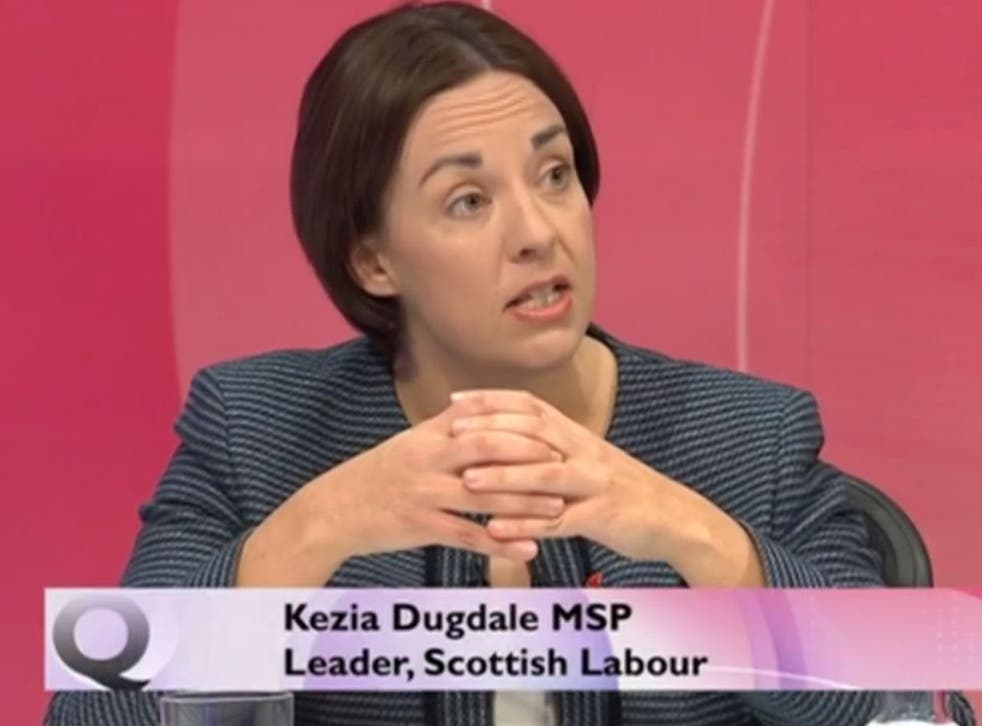 Kezia Dugdale appeared on Question Time to say people did want what Labour were offering - despite not voting for it
