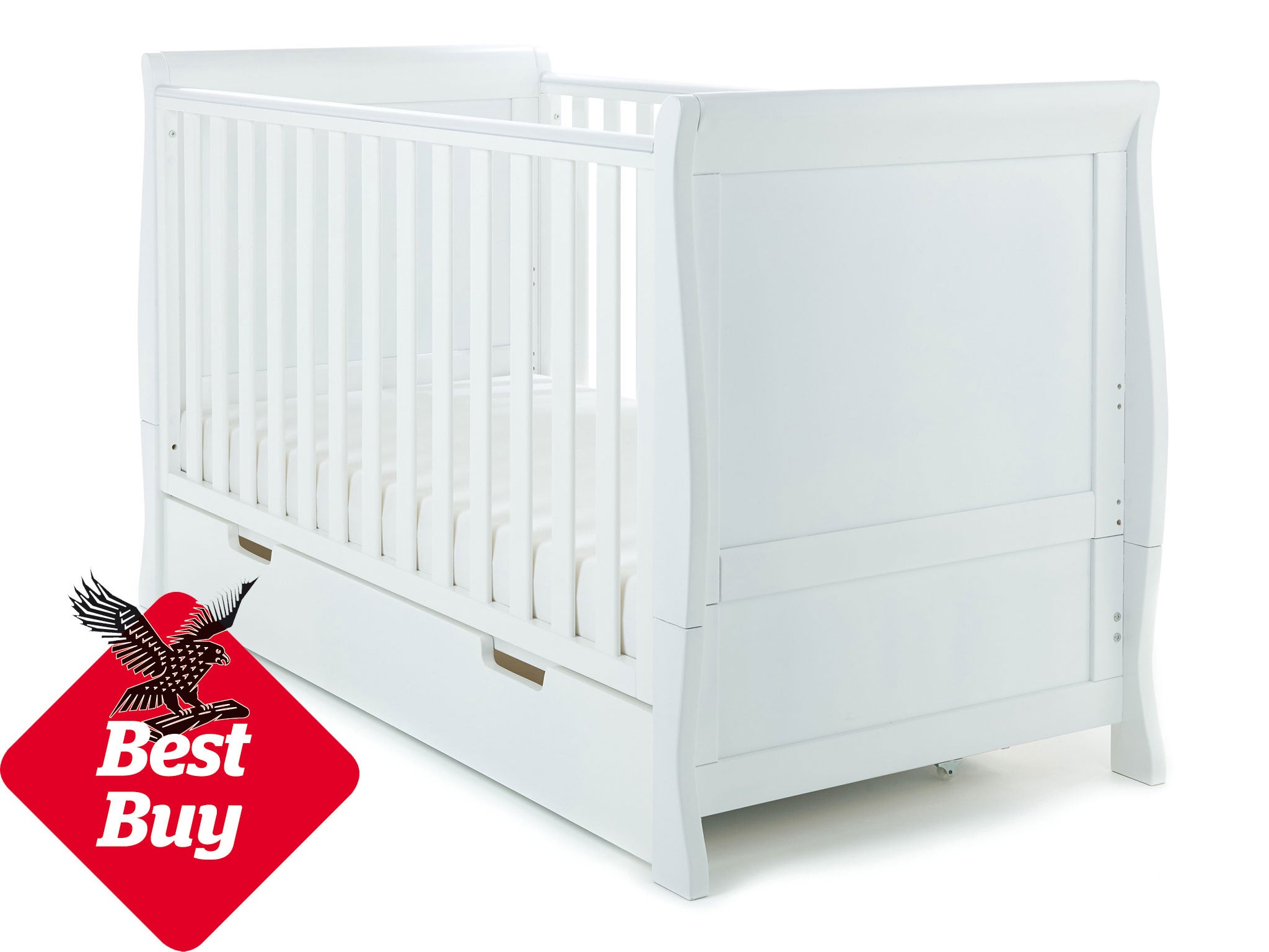 Baby Cots Uk 10 best baby beds the independent this convertible white cot features a beautiful curved sleigh like design and is constructed from solid wood it has three adjustable mattress heights sisterspd