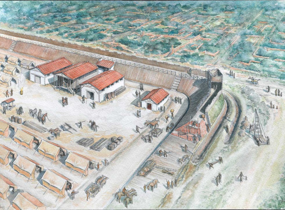 A Roman fort suggests the Romans chose London as their new British political headquarters after Boadicea's revolt in the mid 1st century AD