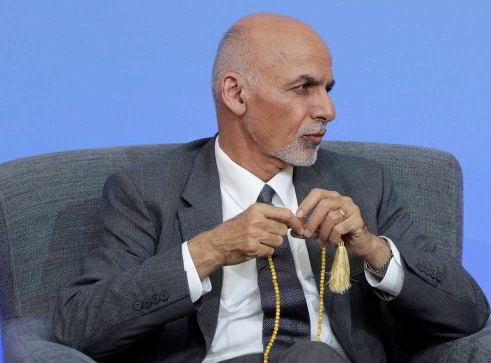President Ghani's talk was interrupted three times