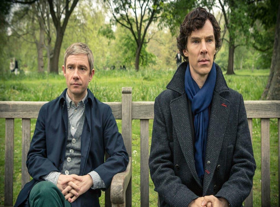 Benedict Cumberbatch and Martin Freeman as Sherlock and Doctor Watson in the BBC drama