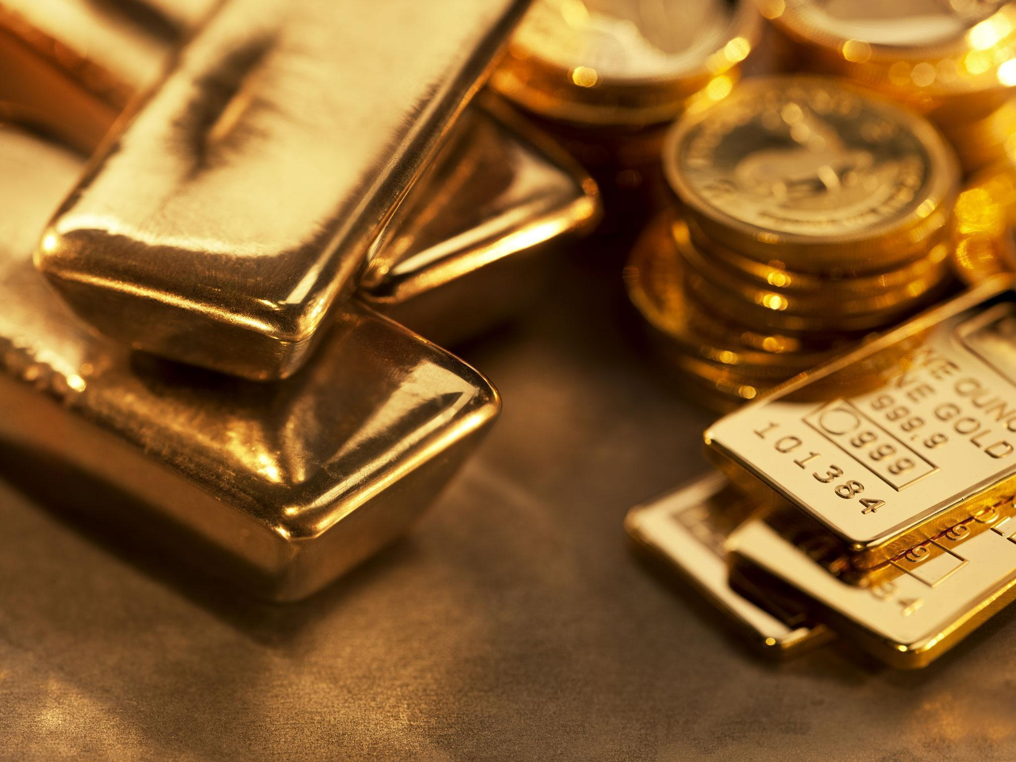 Gold hits two-year high as investors become increasingly anxious