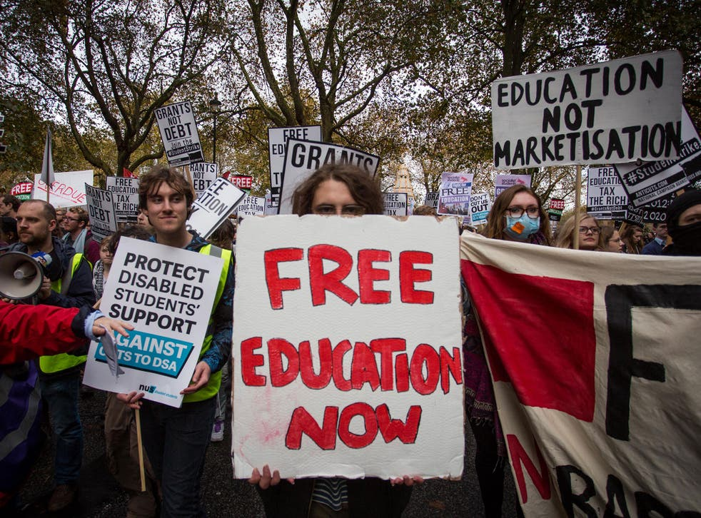 Students have staged several protest marches against the rising cost of university fees in recent years