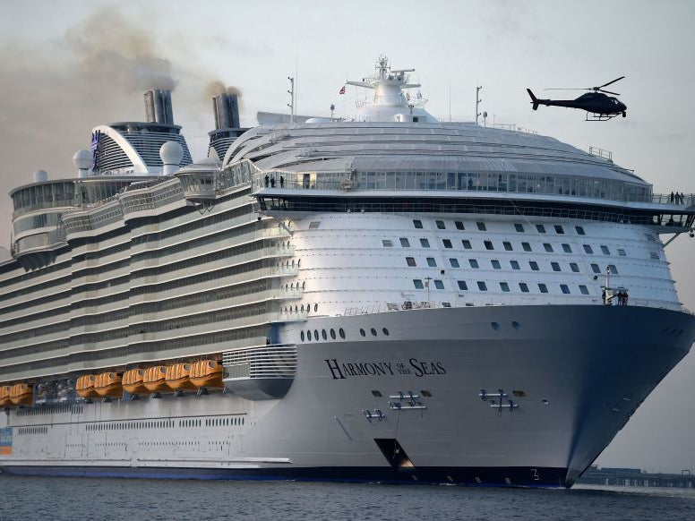 Harmony Of The Seas Stepping On Board The Worlds Largest Cruise - Huge cruise ship