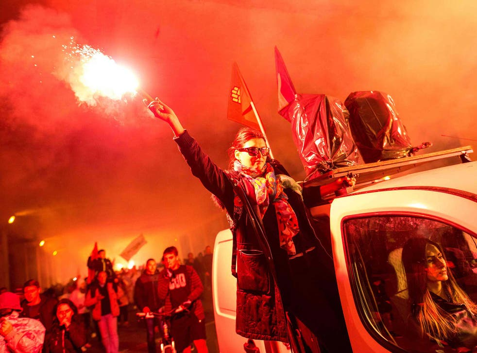 Protests erupted in Macedonia in April, in response to corruption