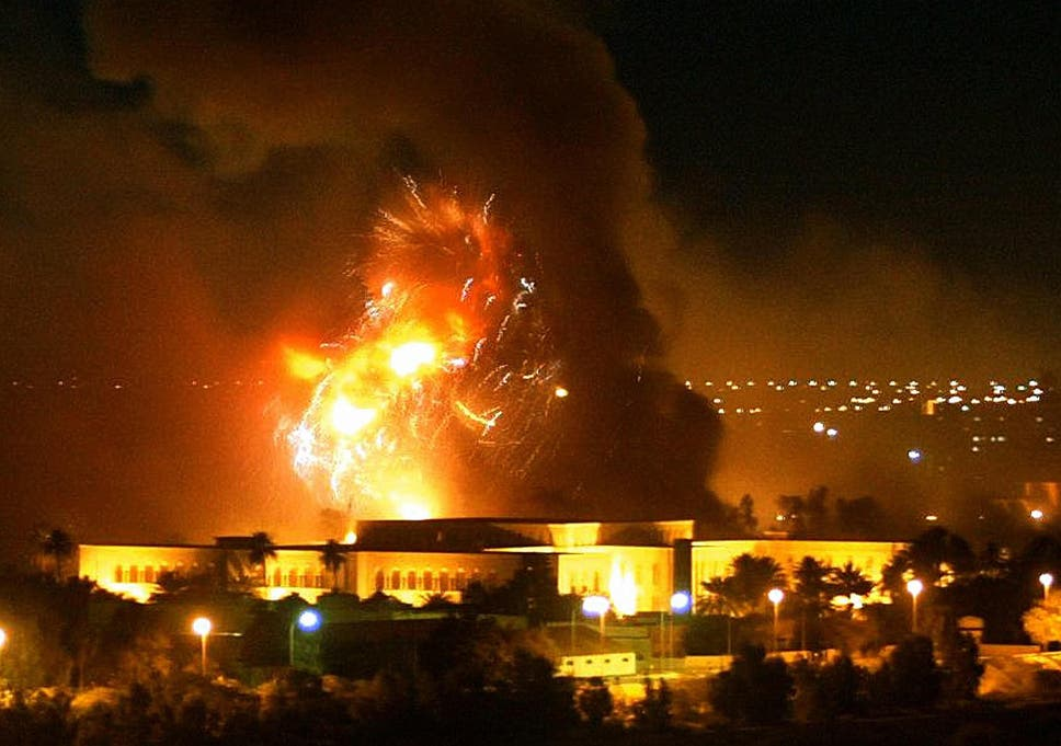 Image result for IMAGE OF BOMBING OF IRAQ IN MARCH 2003