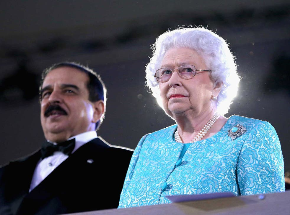 The Queen and the King of Bahrain at the Royal Windsor Horse Show