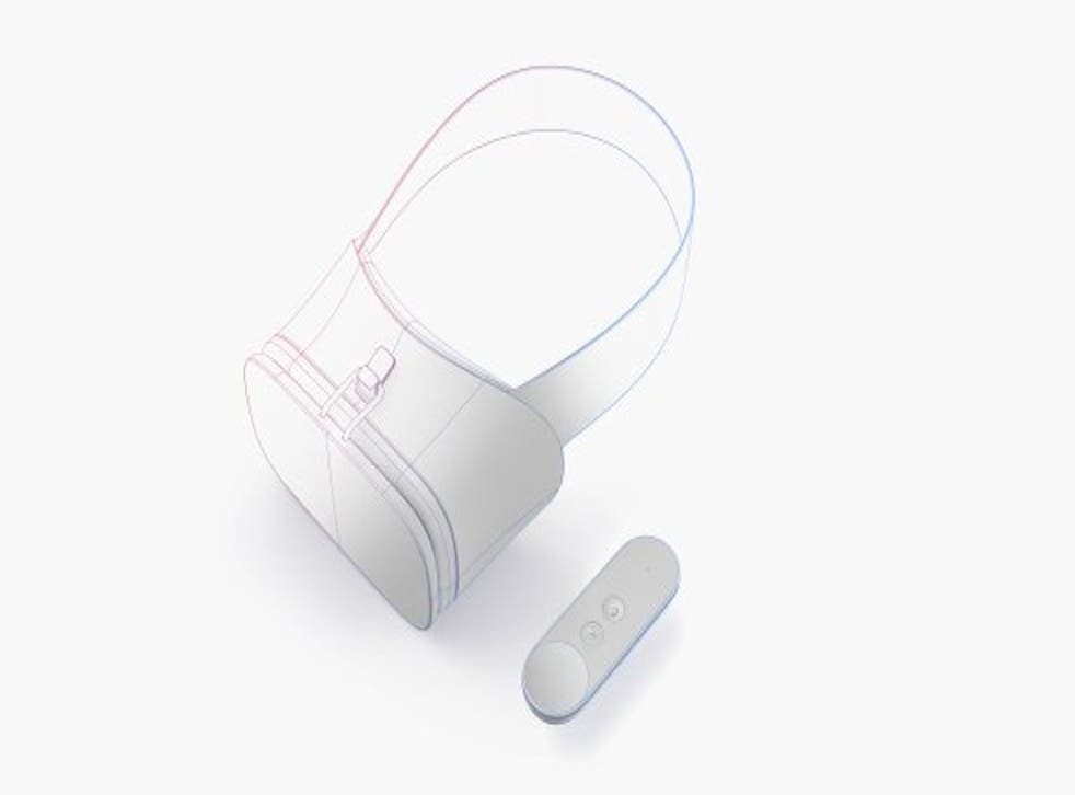 Google unveiled sketches of its new headset and VR controller at the I/O conference