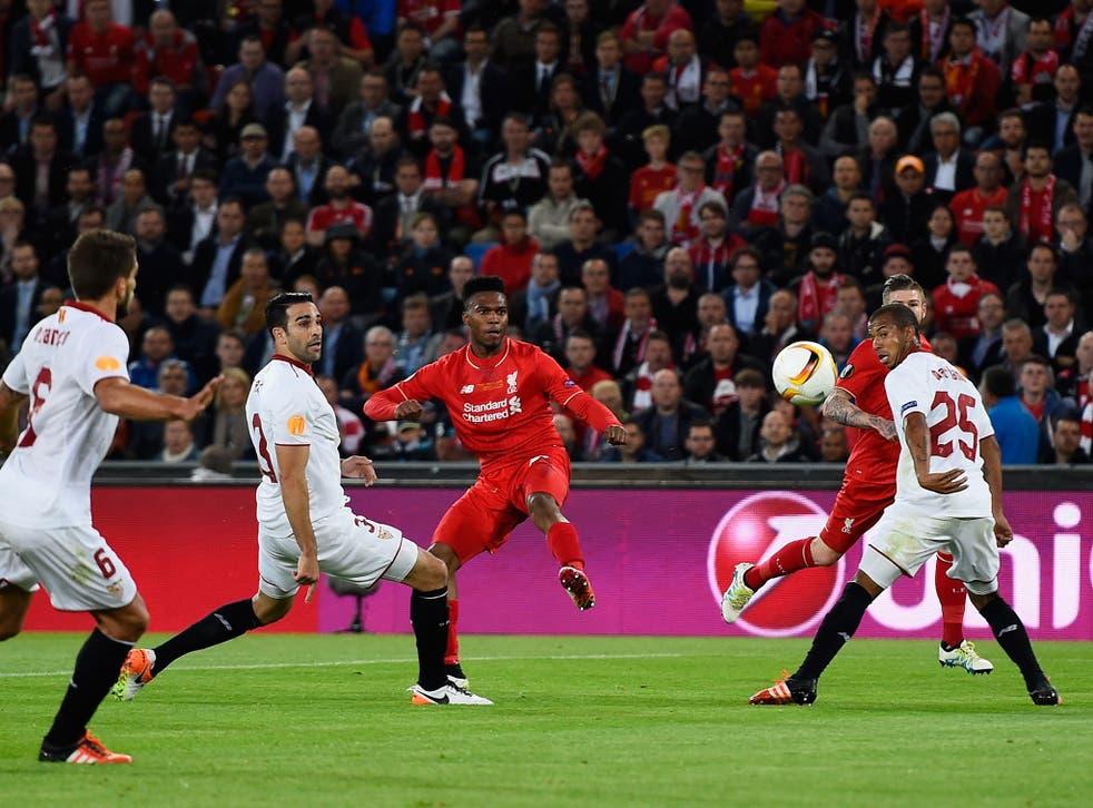 Daniel Sturridge scores the opening goal of the game