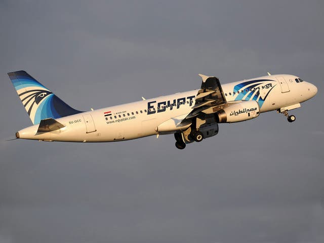 The EgyptAir plane, an Airbus A320 registration SU-GCC, that crashed on 19 May 2016 seen in 2012