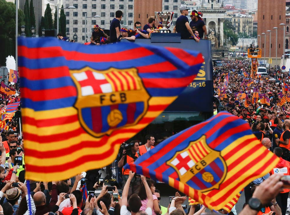 Barcelona fans have been banned from displaying the 'Estelada' flag at the Copa del Rey final