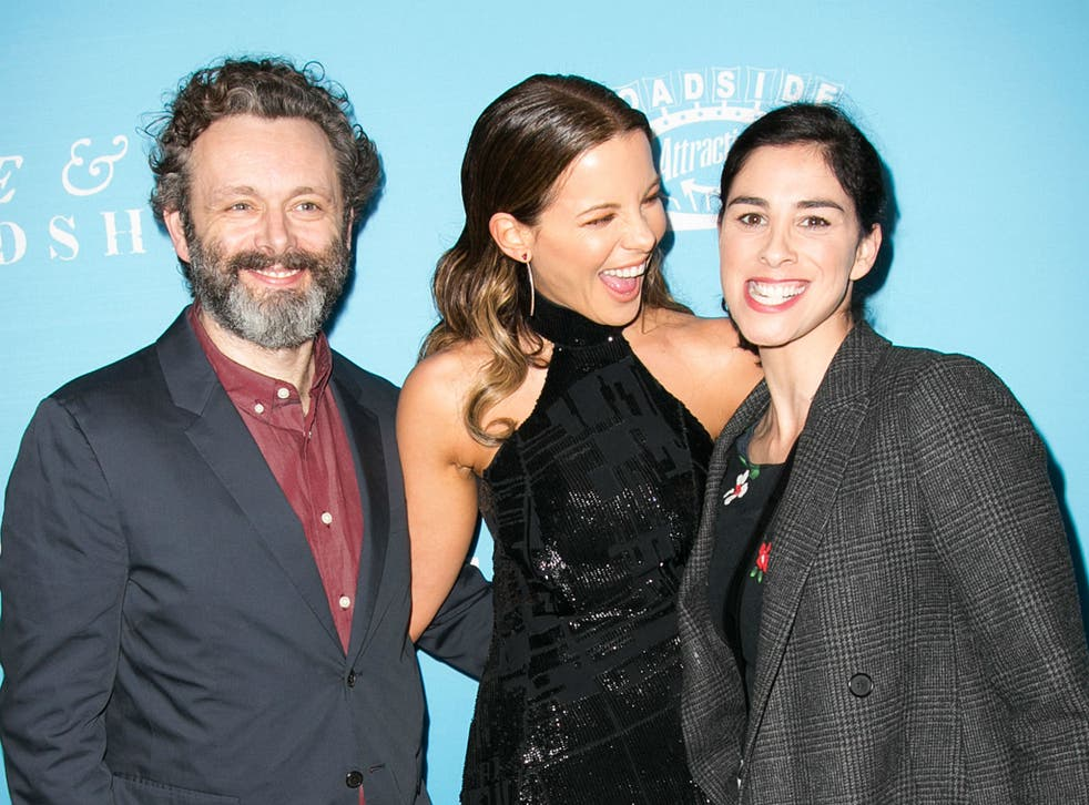 Michael Sheen, Kate Beckinsale and Sarah Silverman at the Love and Friendship premiere in Los Angeles