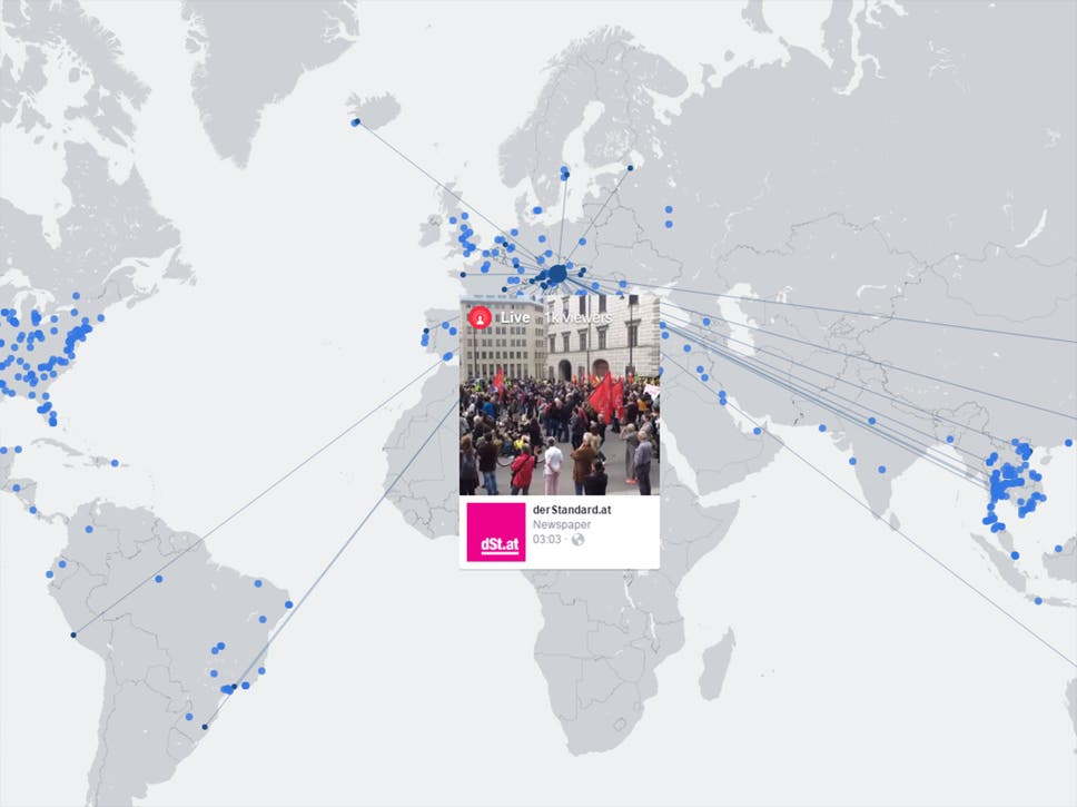Facebook launches interactive live video map showing broadcasts facebook launches interactive live video map showing broadcasts from around the world gumiabroncs Choice Image