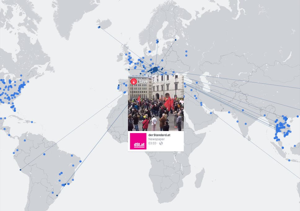 Live Map Of The World.Facebook Launches Interactive Live Video Map Showing Broadcasts