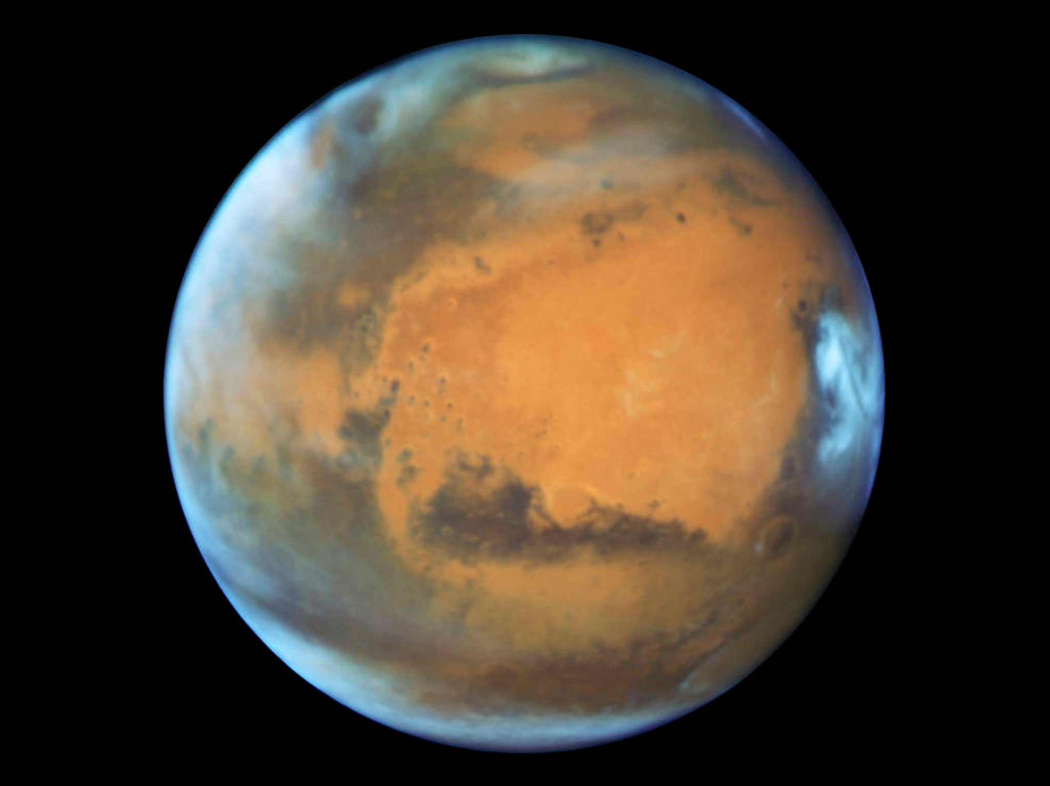 Hubble Space Telescope: Super-detailed image of Mars released by ...