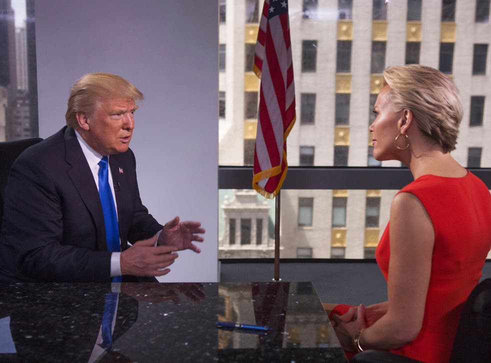 """Donald Trump is interviewed during FOX special """"Megyn Kelly presents"""""""