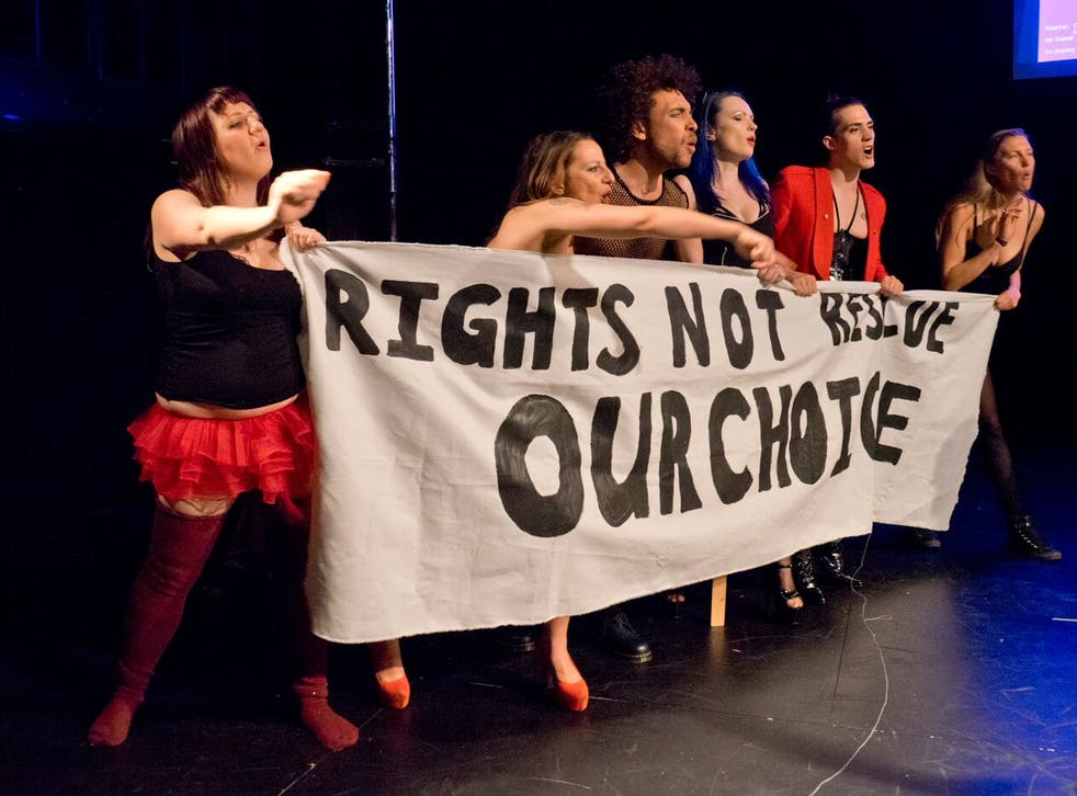 Campaigners for the decriminalisation of sex work in the Sex Workers' Opera