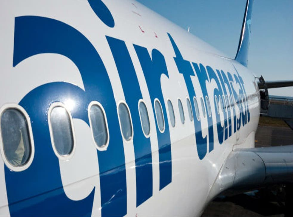 The cabin of Air Transat