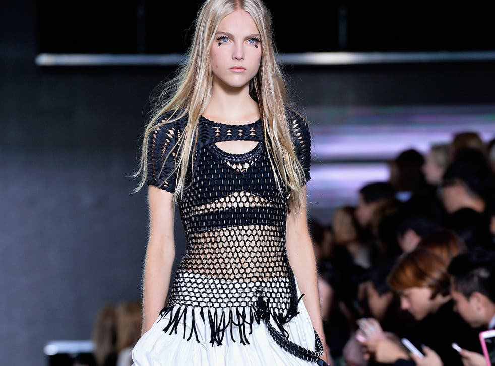 Mesh featured heavily in the Louis Vuitton spring/summer 2016 collection