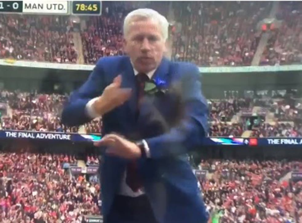 Alan Pardew showing off a bit of the old samba magic
