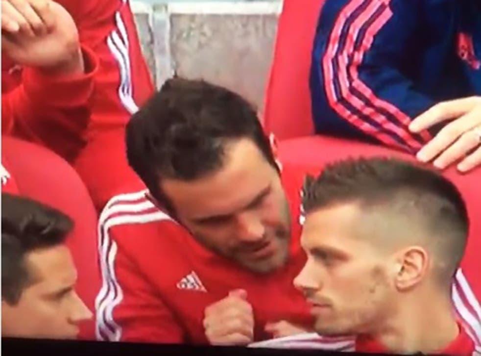Juan Mata seems to do a Pardew-esque dance of his own
