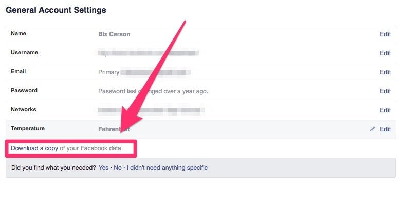 how to download your data and see your entire facebook history the