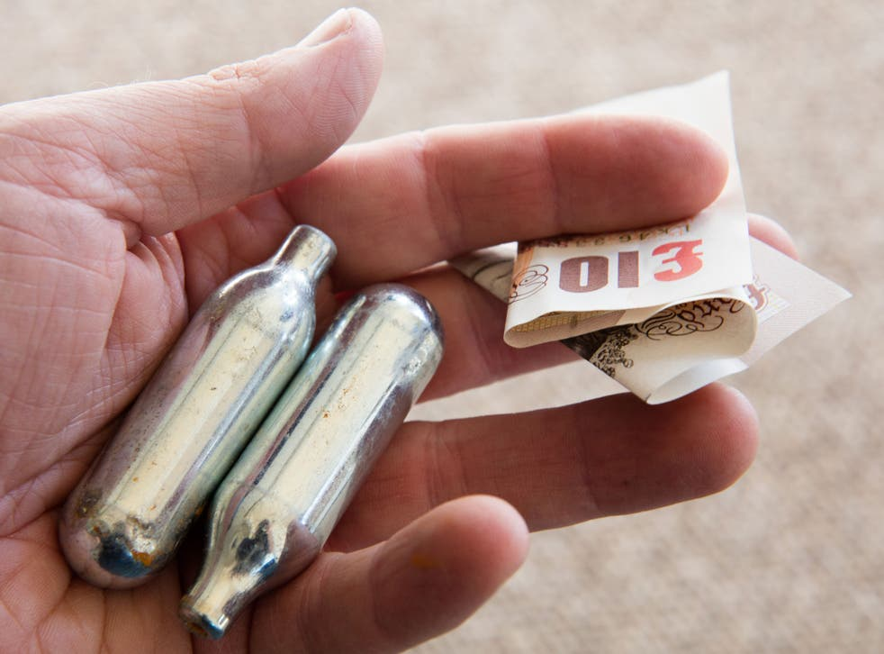 Laughing gas or nitrous oxide comes in canisters and is used recreationally