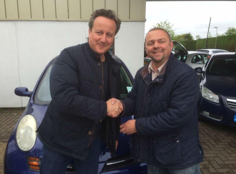 David Cameron and Iain Harris