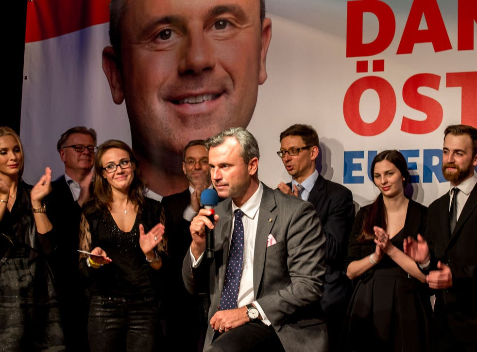 Norbert Hoffer of the right-wing Freedom Party narrowly lost in the Austrian presidential election