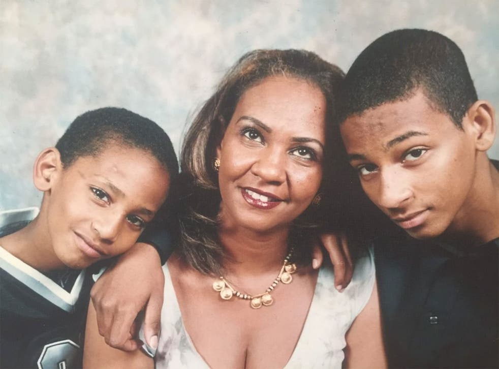 Then-15-year-old El Shafee Elsheikh, right, seen with his mother and younger brother Mahmoud, who was reportedly killed ater also travelling to Syria