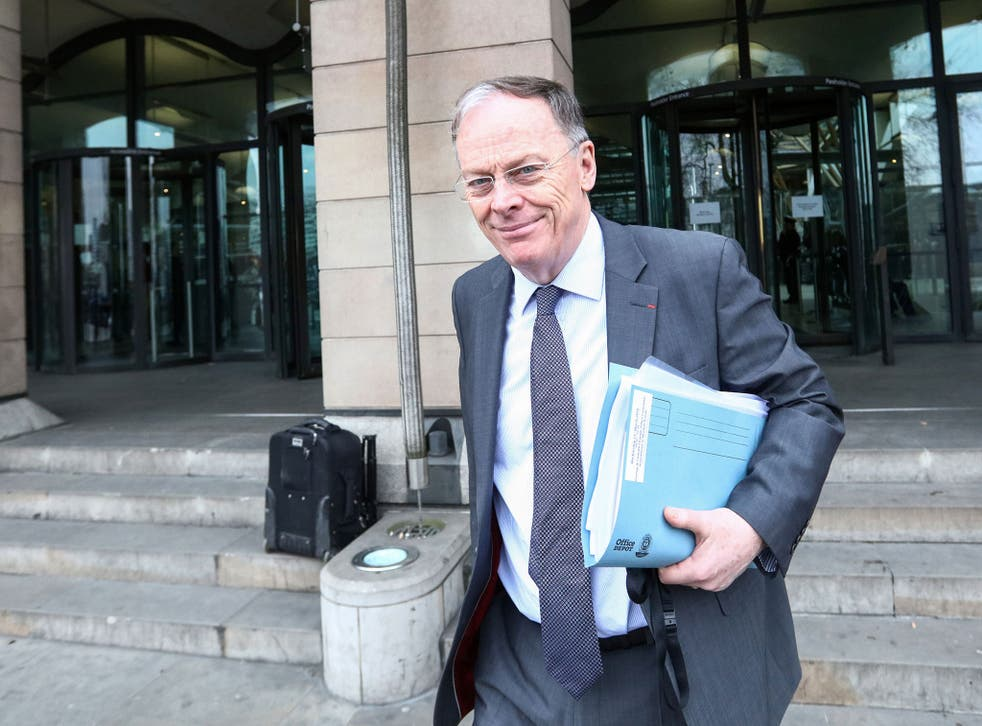 Vincent de Rivaz, chief executive officer of EDF Energy , the UK unit of Electricite de France, leaves a parliamentary select committee hearing in London,