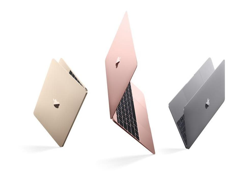 The new MacBoook is now available in four aluminium finishes — gold, silver, space gray and rose gold