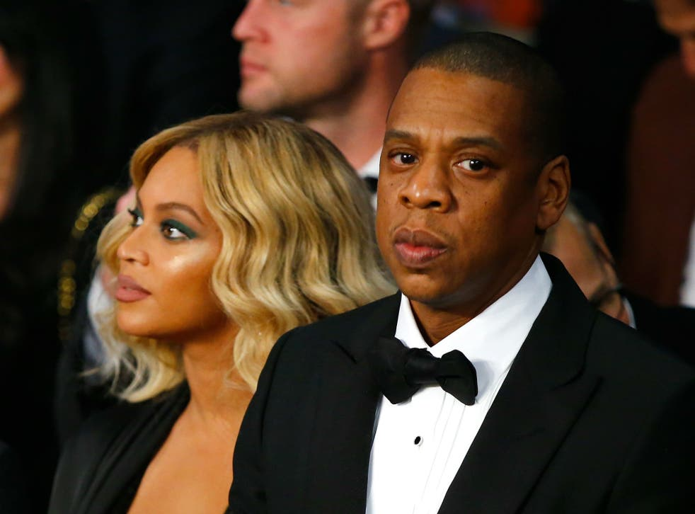 Beyonce and Jay Z at an awards ceremony together before Lemonade's release