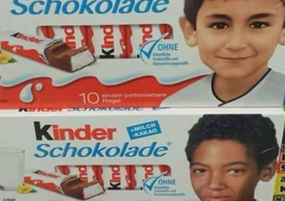 18729085707dd Pediga's original post complaining about the race of the children on  Kinder's packaging Facebook