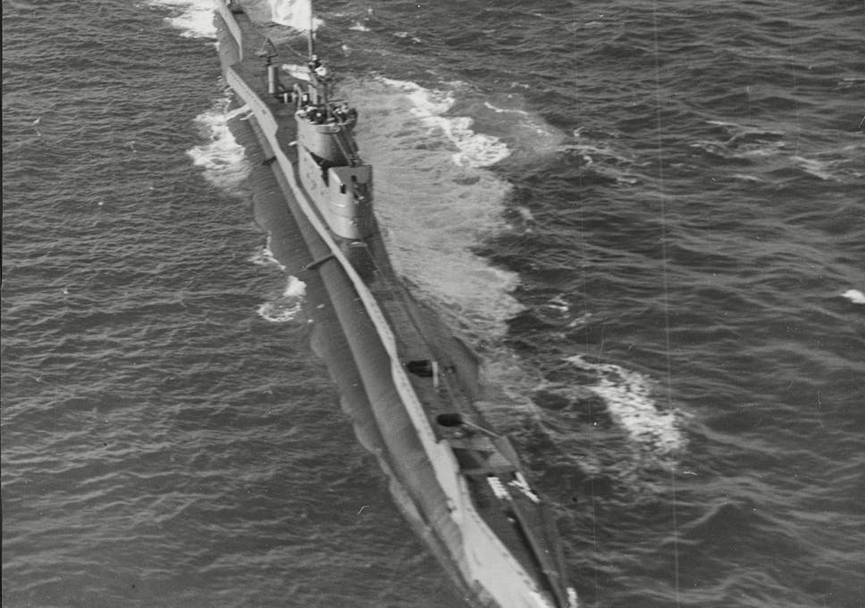 a royal navy t class submarine on patrol