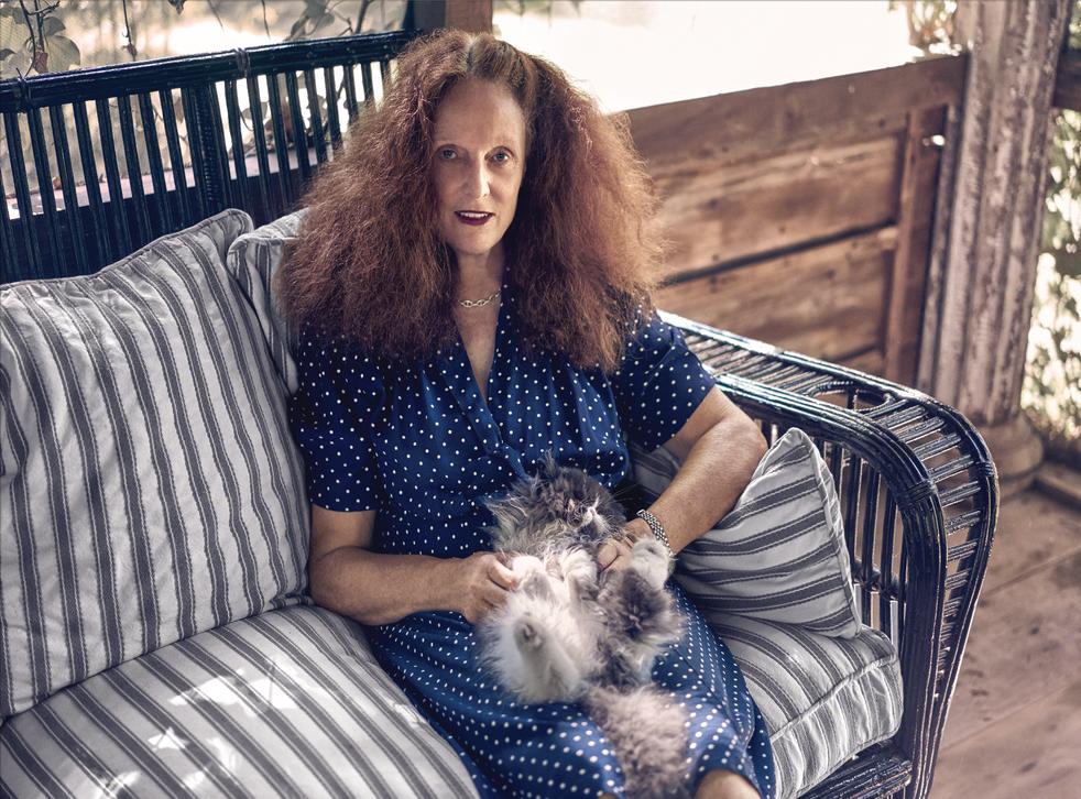 Grace Coddington, and cat (Photograph: Fabien Baron)