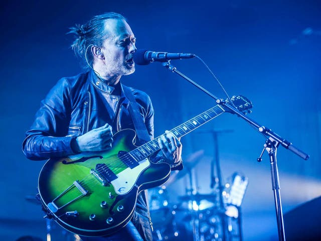 Radiohead  frontman Thom Yorke performs at the Roundhouse