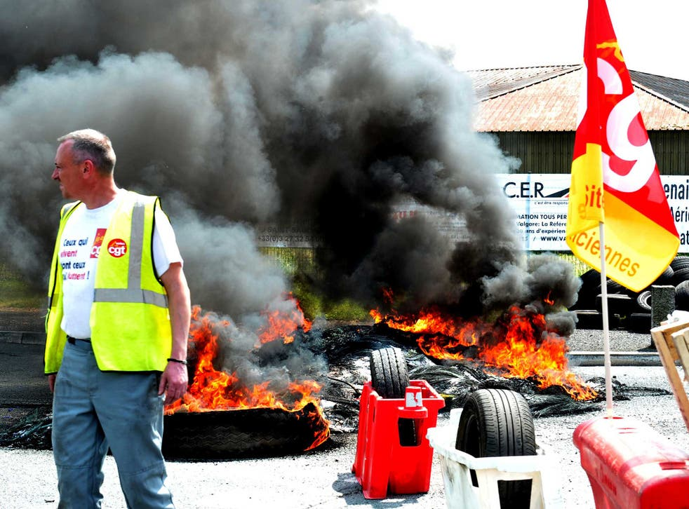 French unions have been blockading fuel supplies