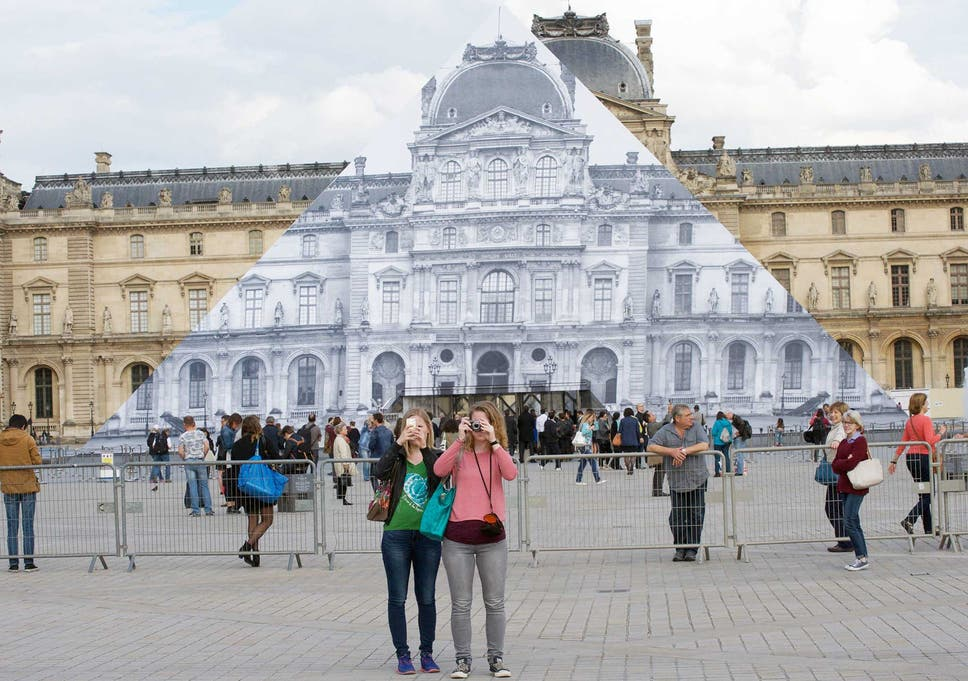 the street artist who made the louvre pyramid disappear the