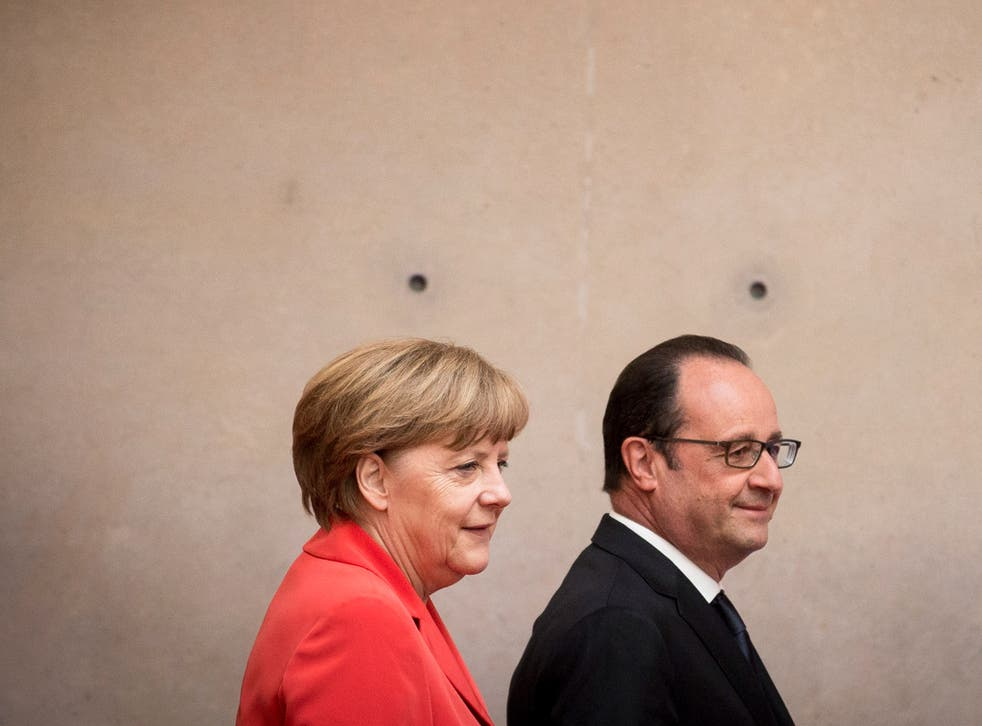 Germany's Merkel and France's Hollande